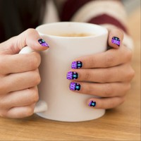 Princess #5 - Purple Tribal Nail Art
