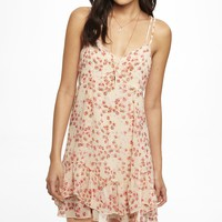 FLORAL CHIFFON STRAPPY SLIP DRESS