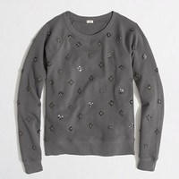 Factory beaded sweatshirt - long sleeve - FactoryWomen's Knits & Tees - J.Crew Factory