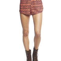 Striped Aztec Challis Short | Wet Seal