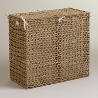 Natural Seagrass Divided Hamper