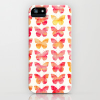 Butterflies Watercolor 1 iPhone & iPod Case by Jacqueline Maldonado