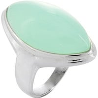 West Coast Jewelry Light Blue Glass Stone Oval Ring in Stainless Steel | Meijer.com
