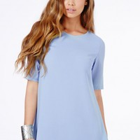 Missguided - Ponika Swing Shift Dress In Baby Blue