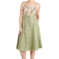 Stay Classy Skirt in Sage | Mod Retro Vintage Skirts | ModCloth.com