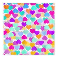 Hearts Shower Curtain - Ornaart Design