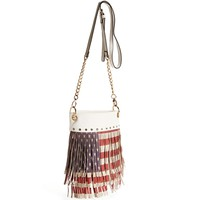 Red/White/Blue Flag Fringe Cross body Bag