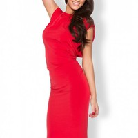 Quontum Red Cut Out Back Midi Dress
