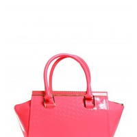 Ted Baker Tena T Embossed Tote Bag in Bright Pink