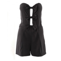 Bow Front Romper Black