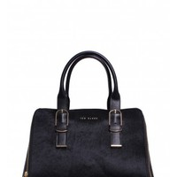 Ted Baker Tannah Slim Buckle Exotic Tote Bag in Black