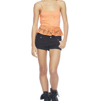 Lace Peplum Cami | Wet Seal