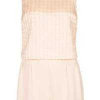 PLEATED TIER PLAYSUIT