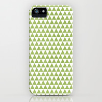 triangles -green and white iPhone & iPod Case by her art