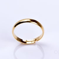 "Gold band ring, thin band ring, simple ring, man wedding band ring, gold stack ring, stackable mothers ring, thin ring, gold ring, ""Pallas"""