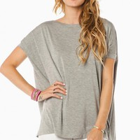 COZY SHORT SLEEVE TEE IN LIGHT GREY BY PIKO