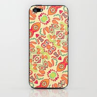 Multicolored Romance Ornament Swirls iPhone & iPod Skin by Danflcreativo