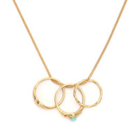 With Love From CA Triple Ring Necklace at PacSun.com
