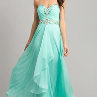 Strapless Sweetheart Prom Dress with Ruched Bodice