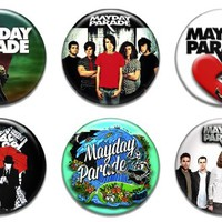 Set of 6 New Mayday Parade Band 1.25 Pinback Button Badge Cd Vinyl Poster Shirt Pin