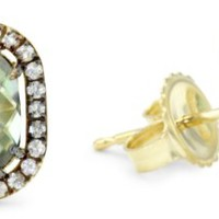 Kalan by Suzanne Kalan Green Envy Topaz Post Earrings