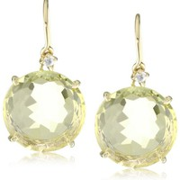Kalan by Suzanne Kalan Round Lemon Quartz Earrings