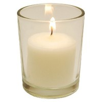 10 Hour Votive Candles with Glass Containers - (12 Count)