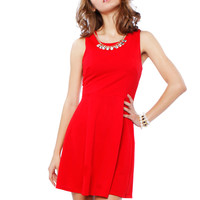 Papaya Clothing Online :: NECKLACE DRESSY FLARE DRESS