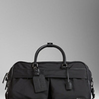 London Leather and Nylon Travel Duffle Bag