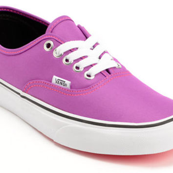 Vans Women's Authentic Neon Purple & White Shoe