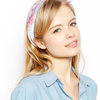 ASOS Digital Print Pastel Floral Headscarf Neckerchief
