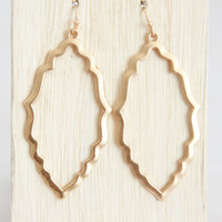 Matte Gold Frame Earrings