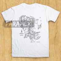 Middle Earth Map The Lord for t shirt paramex