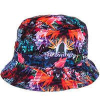 The Exotic Floral Bucket Hat in Black
