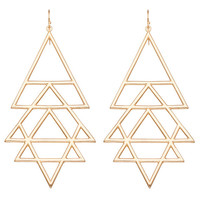 Gold Yantra Earrings