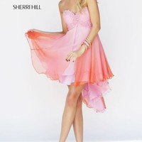 Embellished Hi Lo Dress by Sherri Hill