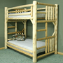 Lakeland Mills Cedar Log Twin Over Twin Bunk Bed | Meijer.com