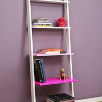 Leaning Book Shelf in Pink - Urban Outfitters