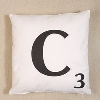 C Scrabble Cushion - Urban Outfitters
