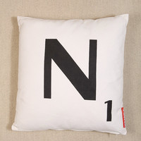 N Scrabble Cushion - Urban Outfitters