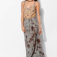 Ecote Jovela Embroidered Maxi Dress- Grey L