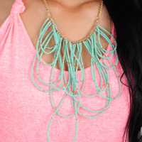 Bottle You Up Necklace: Mint