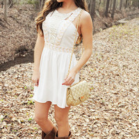 Secret Valentine Dress: White/Multi