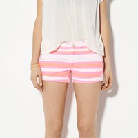 AEO Women's Rolled Midi Short (Knockout Pink)
