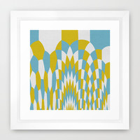 Honey Arches Yellow Framed Art Print by Project M