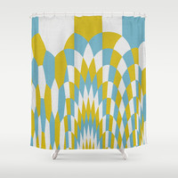 Honey Arches Yellow Shower Curtain by Project M