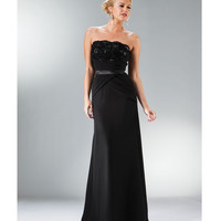 2014 Prom Dresses - Black Sequin & Chiffon Strapless Gown
