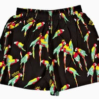 Women's Macaw Shorts (Black)