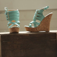 Drop Dead Gorgeous Wedges Mint