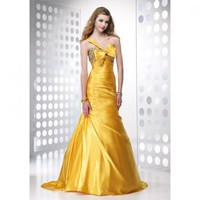 Sheath/Column One Shoulder Floor-length Satin with Beading Prom/Evening Dress [TWL120206053] - $117.99 :
